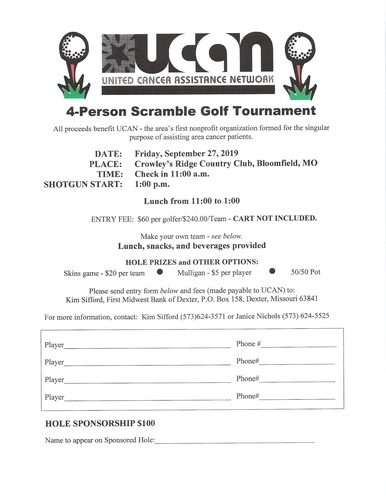 UCAN Golf Scramble - Sep 27, 2019