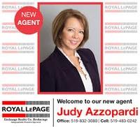 Judy Azzopardi Sales Representative for Royal LePage Exchange Realty Co., Broker