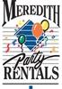 Meredith Party Rentals