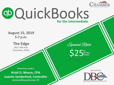 2019 QuickBooks for the Intermediate - Aug 15, 2019 - The Chamber of