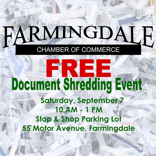Free Document Shredding Event - Sep 7, 2019 - Farmingdale Chamber of