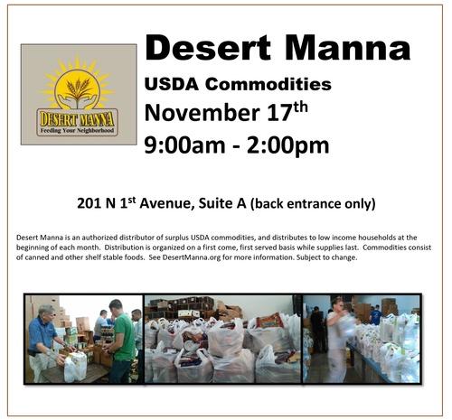 Desert Manna Usda Commodities Apr 20 2017 Mn