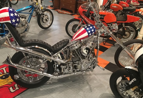 the collection of David McGraw motorcycles