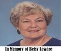 In Memory of Betsy Leware