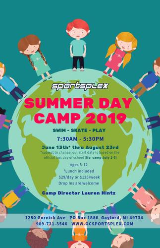 Sportsplex Summer Day Camp 2019 - Aug 14, 2019 - Gaylord