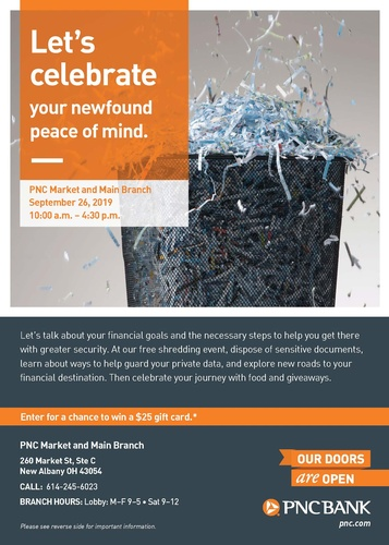 New Albany Shred-it Day by PNC Bank - Sep 26, 2019 - New