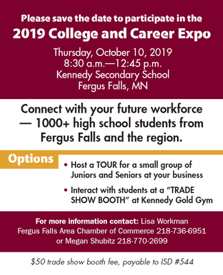 2019 West Central MN College and Career Expo - Oct 10, 2019 - Fergus
