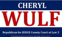 Cheryl Wulf for Judge of County Court at Law 3