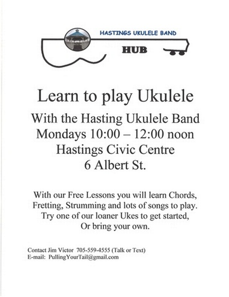 Learn to Play Ukulele - May 6, 2019 - Trent Hills Chamber of Commerce