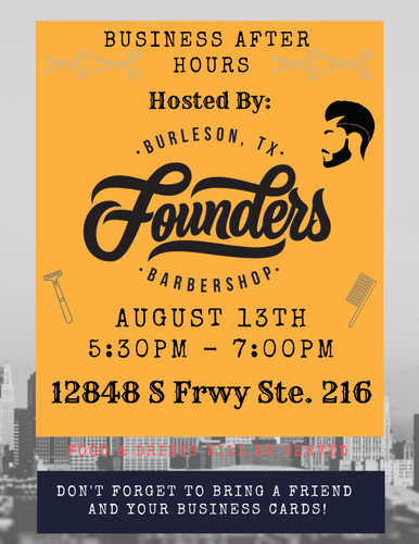 BUSINESS AFTER HOURS: Founders Barber Shop - Aug 13, 2019 - Burleson
