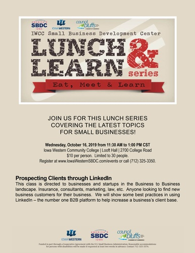 Lunch & Learn - Oct 16, 2019 - Council Bluffs Area Chamber
