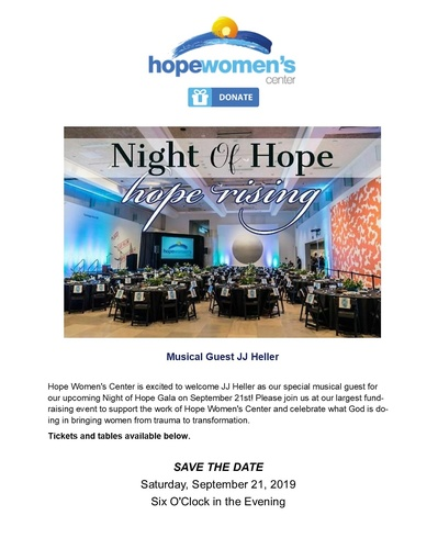 Night of Hope/Hope Rising - Sep 21, 2019 - Coolidge Chamber