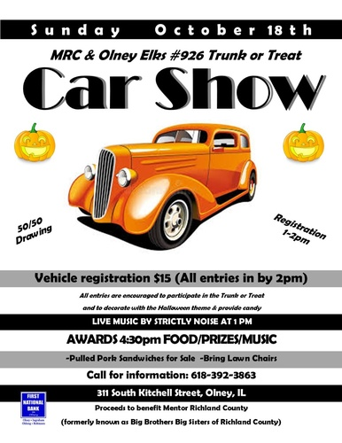 Richland County Halloween 2020 Car Show   Oct 18, 2020   Olney Chamber of Commerce
