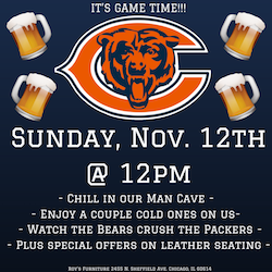 Bears & Brews at Roy's Furniture!