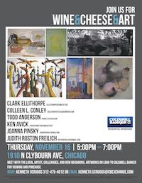 Wine & Cheese & Art at Coldwell Banker