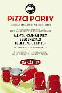 Pizza Party with Goose Island at Ranalli's