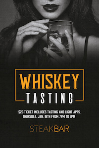 Whiskey Tasting at SteakBar