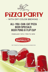 Pizza Party with Off Color Brewing at Ranalli's
