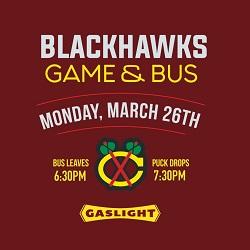Chicago Blackhawks vs San Jose Sharks: Tickets & Pre-Party at Gaslight