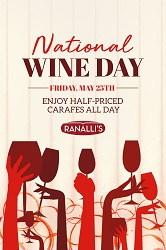 National Wine Day at Ranalli's