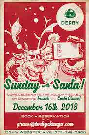Brunch with Santa at Derby Bar & Grill