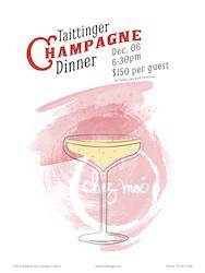 Taittinger Champagne Wine Dinner at Chez Moi