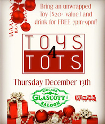 Toys 4 Tots at Glascott's Groggery