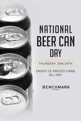 National Beer Can Day at Benchmark