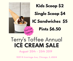 Terry's Toffee Annual Ice Cream Sale – Last Day!
