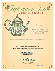Afternoon Tea at Belmont Village Senior Living