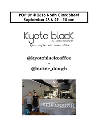 Butterdough and Kyoto Black Pop Up