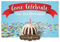 Nothing Bundt Cakes 3rd Birthday Celebration