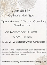 Celina's Nail Spa Open House & Grand Opening