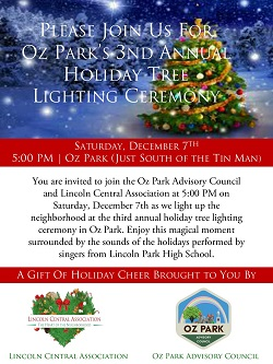 3rd Annual Oz Park Holiday Tree Lighting Ceremony