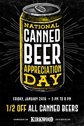 National Canned Beer Appreciation Day at Kirkwood