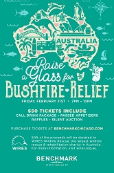 Raise a Glass for Bushfire Relief at Benchmark