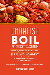 Crawfish Boil and Fat Tuesday Celebration at Benchmark
