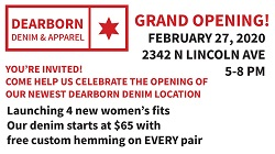 Dearborn Denim Grand Opening