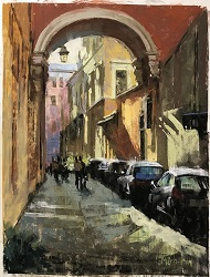 "Painting ""IN"" Italy with Nancie King Mertz"