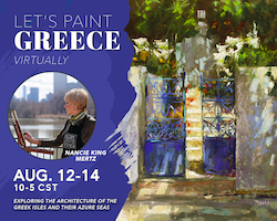 Let's Paint Greece Virtually with Nancie King Mertz