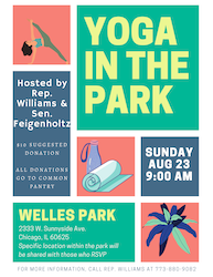 Yoga in the Park with Rep. Williams & Sen. Feigenholtz