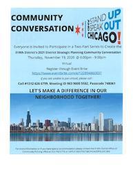 18th District's 2021 Strategic Planning Community Conversation Part 2