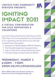 Lincoln Park Community Services Presents Igniting Impact 2021