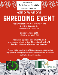 43rd Ward Shredding Event