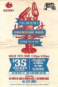 Crawfish Boil at Derby Bar & Grill