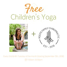 Free Children's Yoga at Roots Family Chiropractic