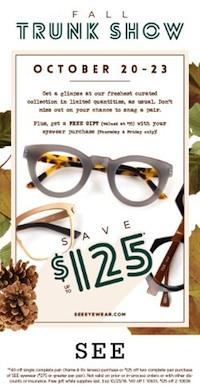SEE Eyewear Fall Trunk Show