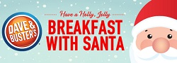 Breakfast with Santa at Dave & Buster's