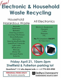 Free Electronic & Household Waste Recycling Event