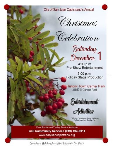 SJC's Annual Christmas Celebration @ Historic Town Center Park | San Juan Capistrano | California | United States